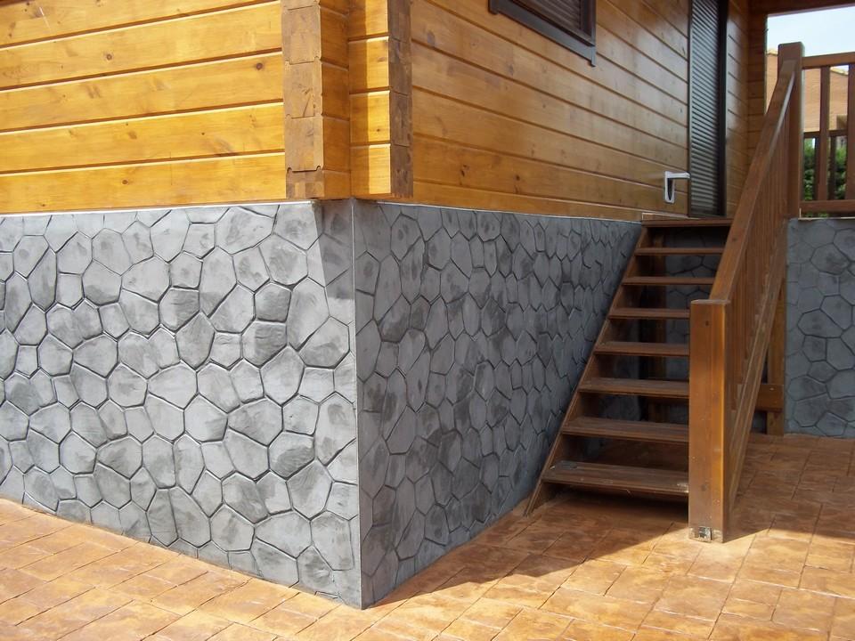 Beton amprentat beton amprentat in romania for Hormigon impreso vertical fotos